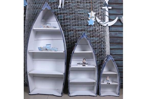 Arredo mare scaffali barca
