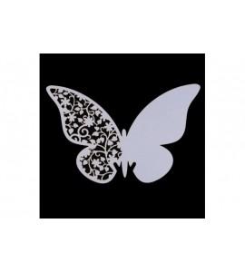 Farfalla in carta per decorazione nozze bicchieri