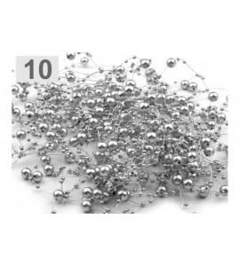 Filo con perline decorative (doppia dimensione di perle) (vari colori)