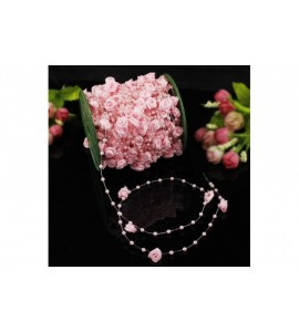 Filo con piccole rose e perline decorative (vari colori)